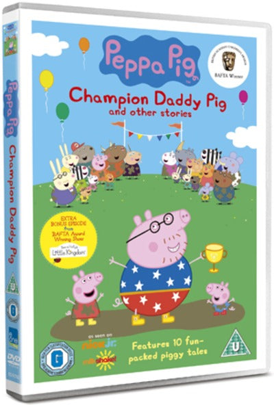 Peppa Pig Champion Daddy Pig And Other Stories Phil Davies Dvd Golden Discs