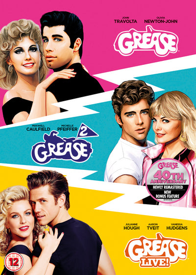 Grease/Grease 2/Grease Live! - Randal Kleiser [DVD]