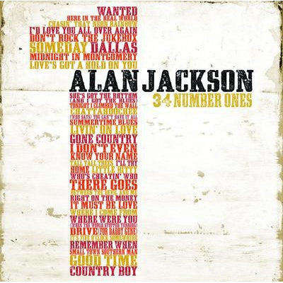 34 Numbers Ones - Alan Jackson [CD]