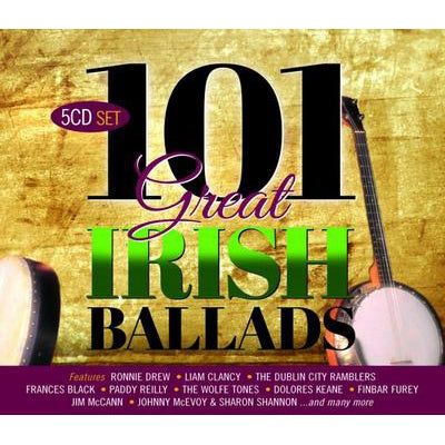 101 Great Irish Ballads:   - Various Artists [CD]