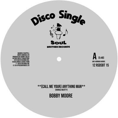 (Call Me Your) Anything/I Get Lifted (RSD 2020) - Bobby Moore/Sweet Music [VINYL Limited Edition]