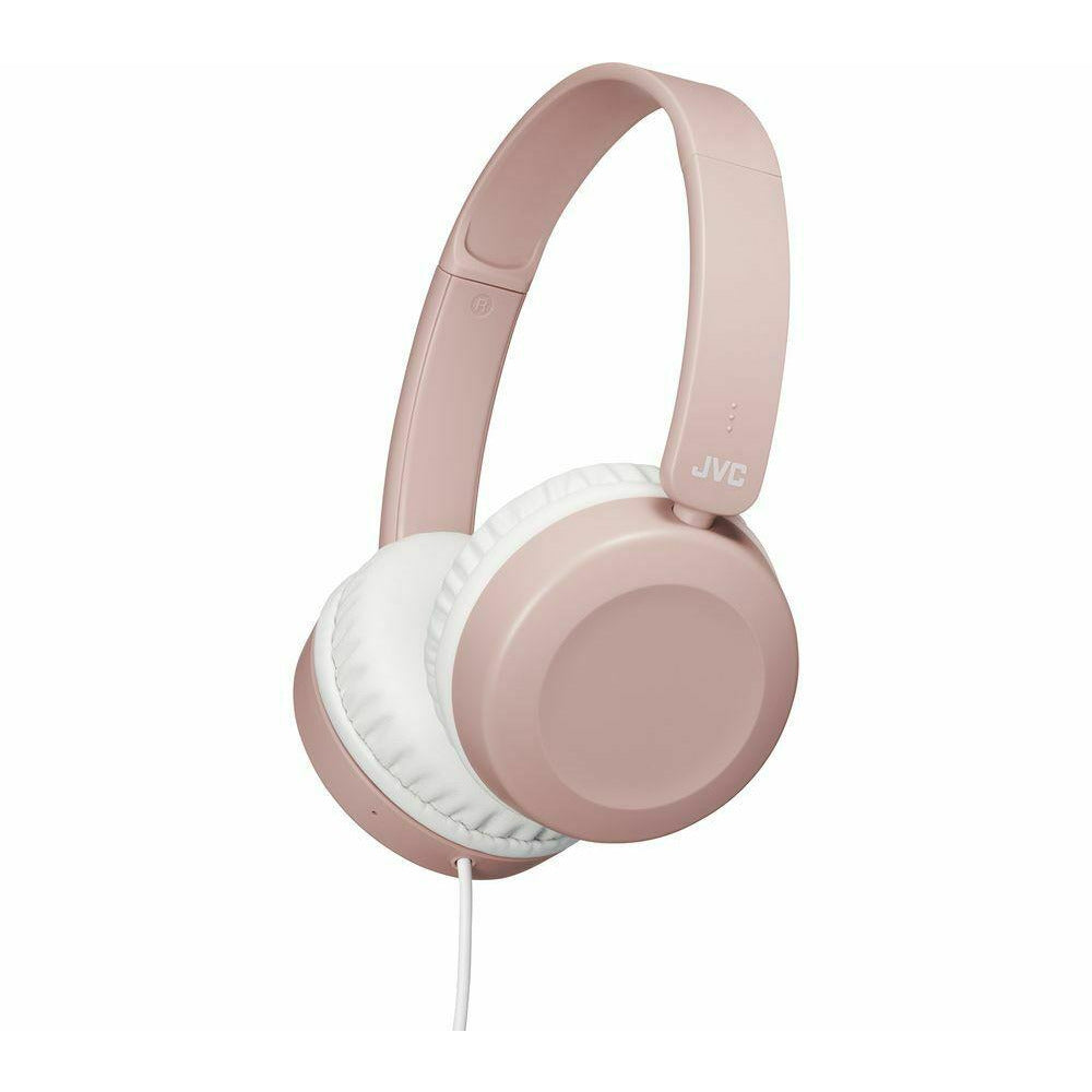 JVC Dusty Pink Foldable On Ear Headphones [Accessories]