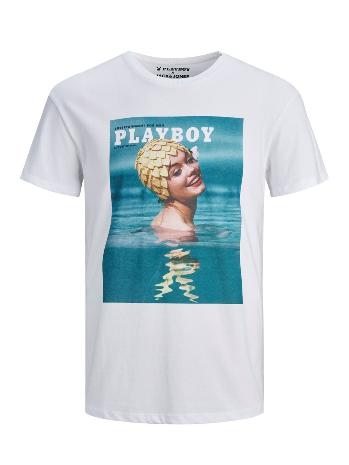 JORPLAYBOY BLUE TEE  WHT [T-Shirts]