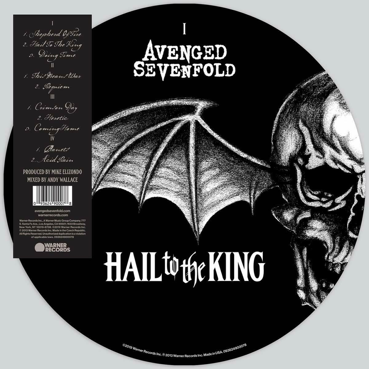 Avenged Sevenfold Hail To The King Picture Disc Double Vinyl Lp [Vinyl]