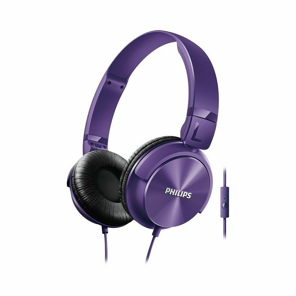 Philips Headphones with Mic Purple [Accessories]