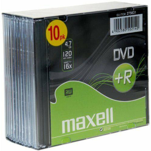 DVD PLUS R 10PACK JEWEL CASE 16X [Accessories]