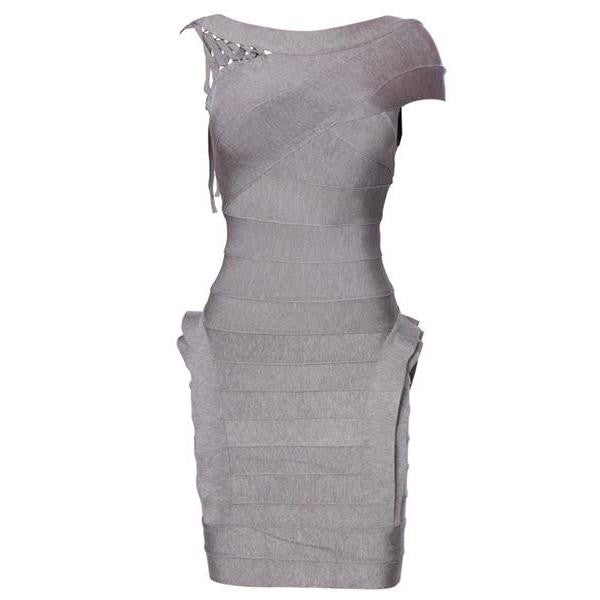 Grey Bodycon Women's Bandage Dress