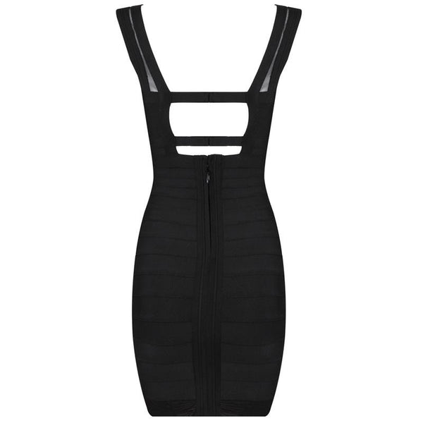 Black Evening Bodycon Women's Bandage Dress