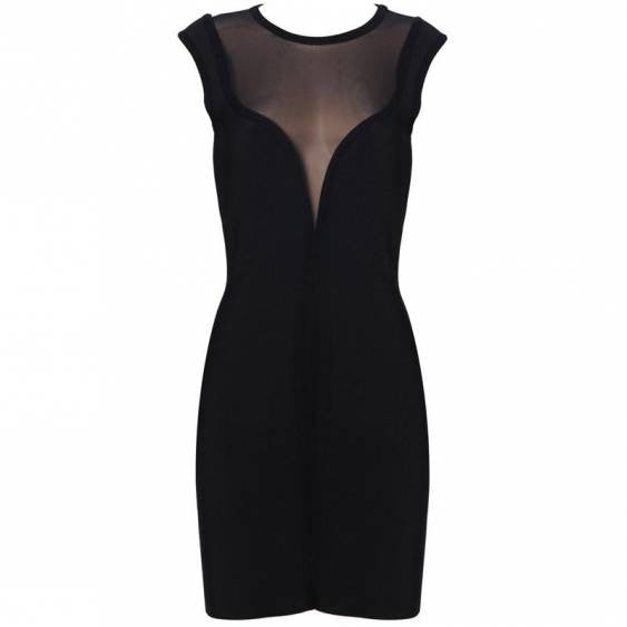 LBD Black Bodycon Women's Bandage Dress