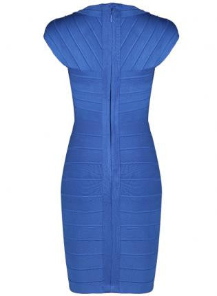 Blue Bodycon Women's Bandage Dress