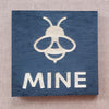 Painted Wood Magnet - Be Mine