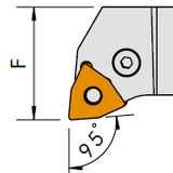 PWLNR/L 95° WNMG Toolholder - Turning and Facing