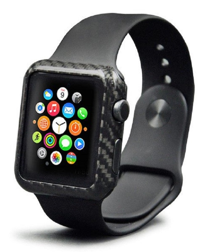 quality design 1b139 312c3 For Apple iWatch Series 1 / 2 / 3 Carbon Fiber Apple Watch Case Cover 38 mm  / 42mm