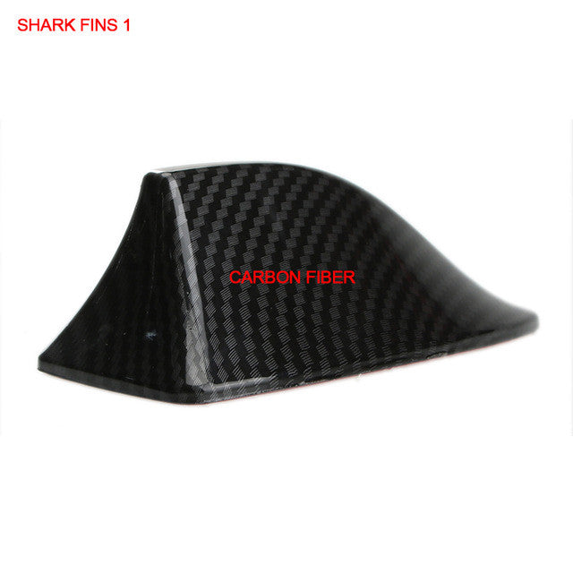Universal Car Roof 5D Carbon Fiber Shark Fin Fake Antenna Car Styling  Stickers Motor