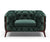 William green velvet single sofa with solid wood base