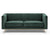 Lily green velvet 2 seater sofa with stainless steel legs