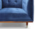 Harper blue velvet single chair with rubber wood legs