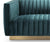 Max green velvet 2 seater sofa with stainless steel legs