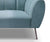 Ezra sky blue velvet single chair with metal legs