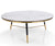 Apollo white marble coffee table with stainless steel leg
