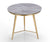 Cerberus grey marble side table with stainless steel base