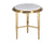 Figgy marble top effect side table with stainless steel legs