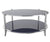 Hum glass coffee table with stainless steel frame