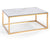 Medea marble top effect coffee table with stainless steel base