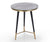 Troy marble effect side table with stainless steel legs