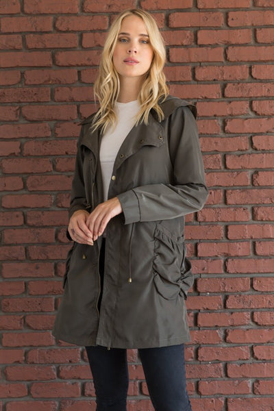 Bubble Pocket Rain Jacket