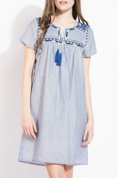 XXXTHML Short Sleeve Stripe Dress