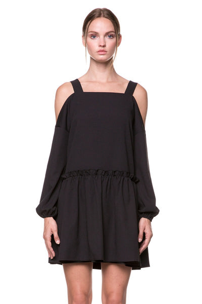 Avant-garde off the shoulder dress