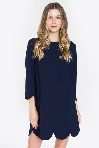 XXXNavy Scalloped Dress