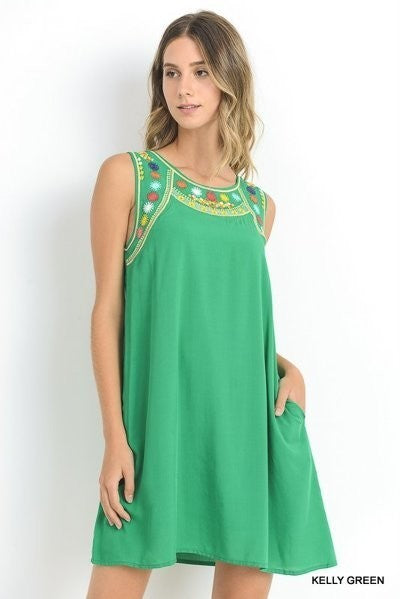 XXXKelly Green Sleeveless Dress