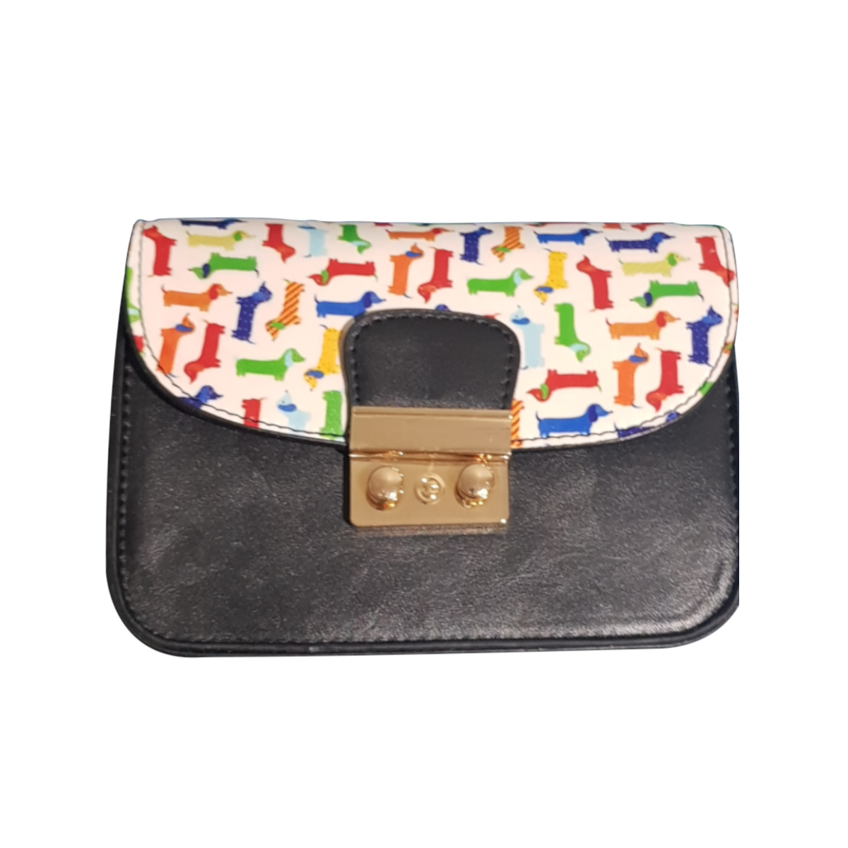Colourful Dachshund Cross-Body Bag