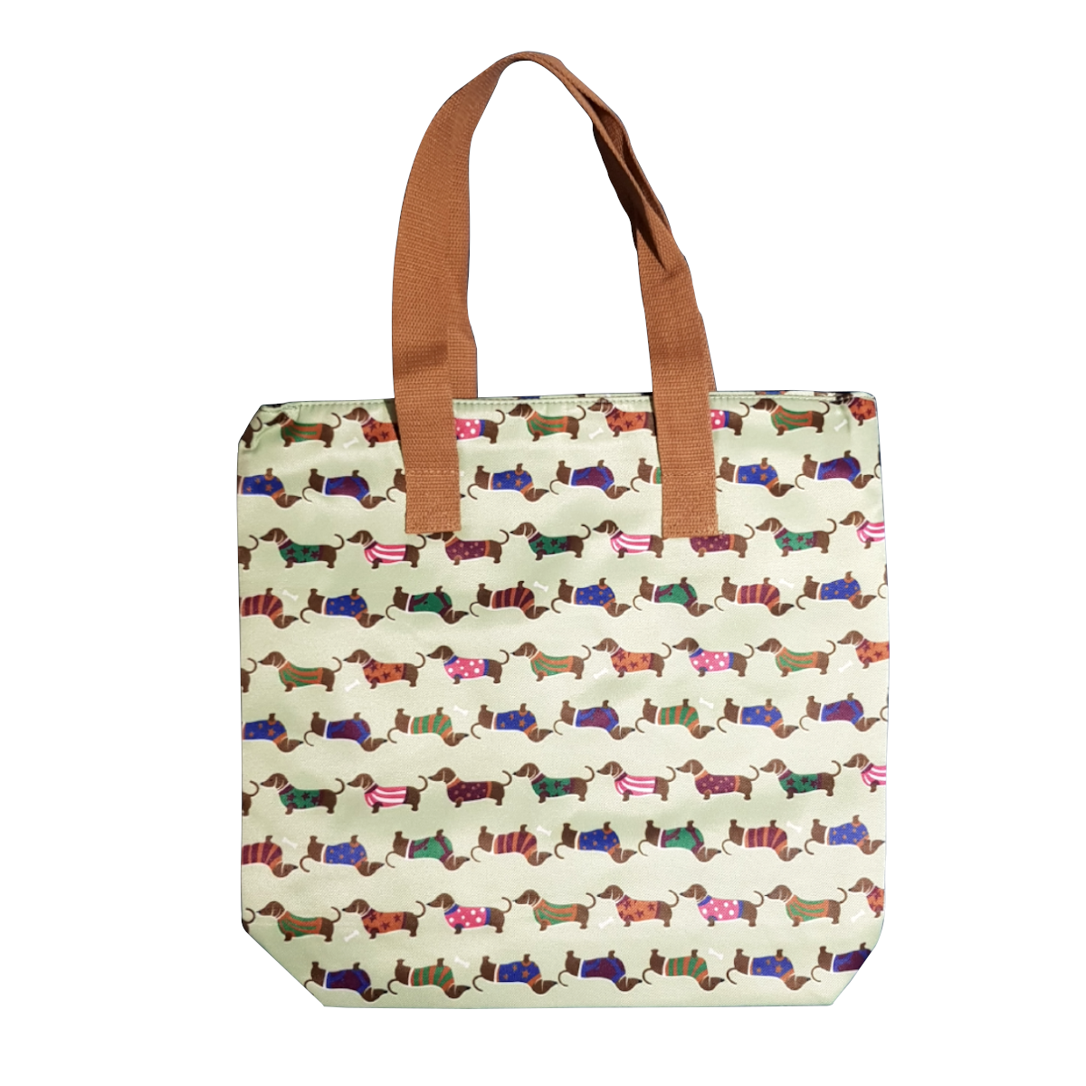 Dachshund Tote Bag - Green