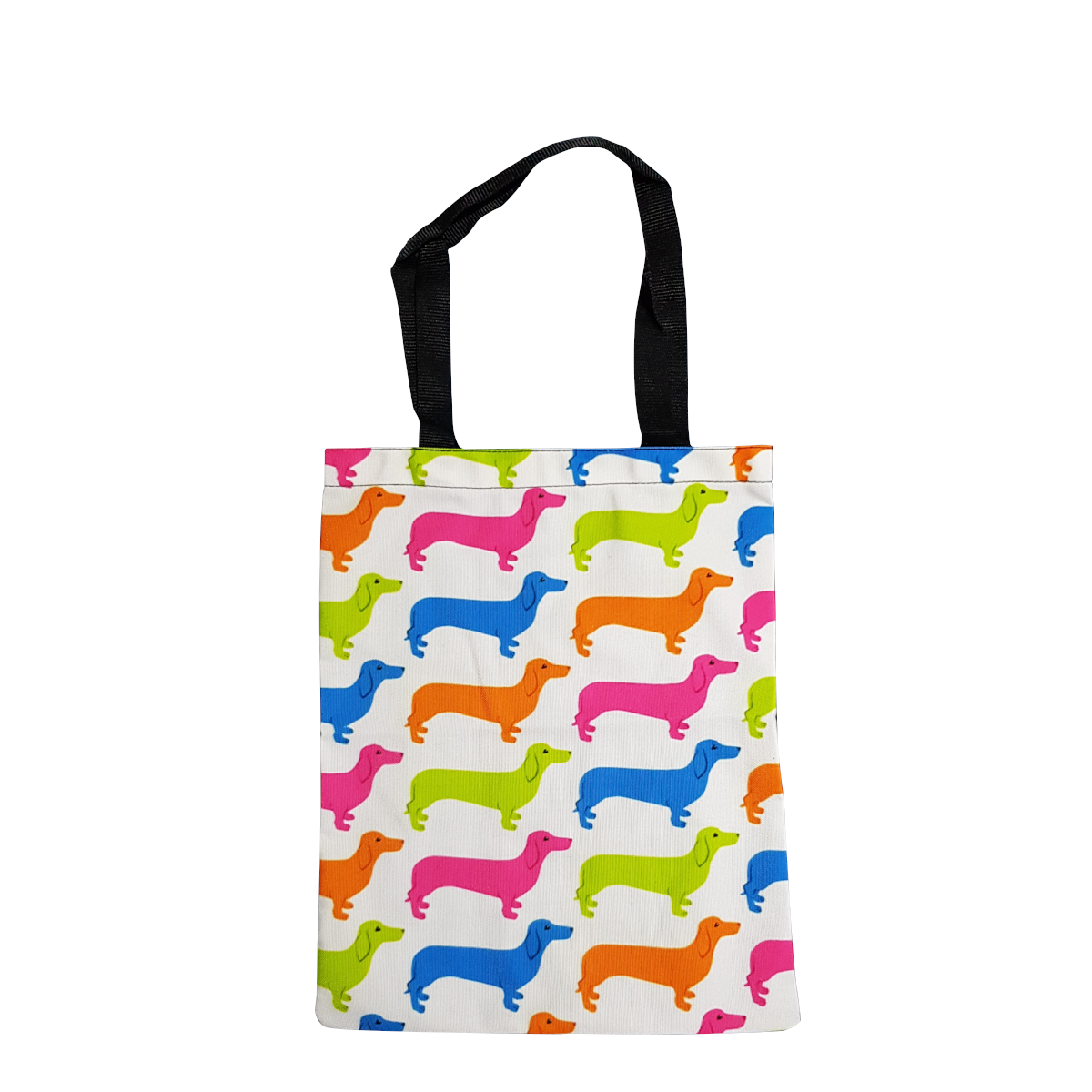 Dachshund Tote - White Colourful