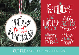 Christmas Ornament Cut Files SVG DXF | Christmas SVG