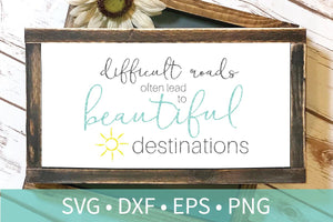 Difficult Roads SVG DXF EPS Silhouette Cut File