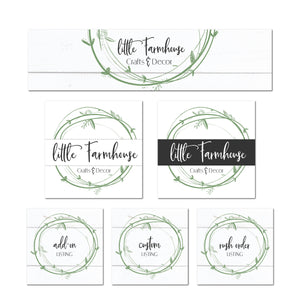 Etsy Shop Farmhouse Banner Branding Kit - Etsy Shop Logo - Etsy Listing Image Template