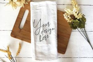 Tea Towel Flour Sack Mockup