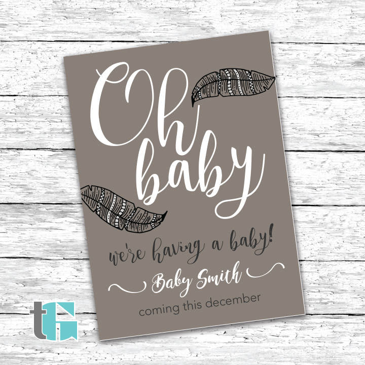 image regarding Free Printable Pregnancy Announcements called Being pregnant Announcement Card Printable - Mother in the direction of be - Father in direction of
