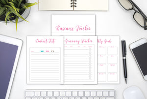 2019 Printable Business Planner Tracker