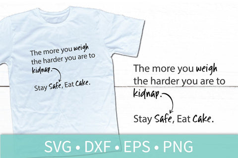 Stay Safe Eat Cake SVG DXF EPS Silhouette Cut File