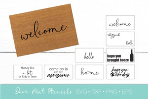 Welcome Mat Stencil Bundle SVG DXF EPS Silhouette Cut File