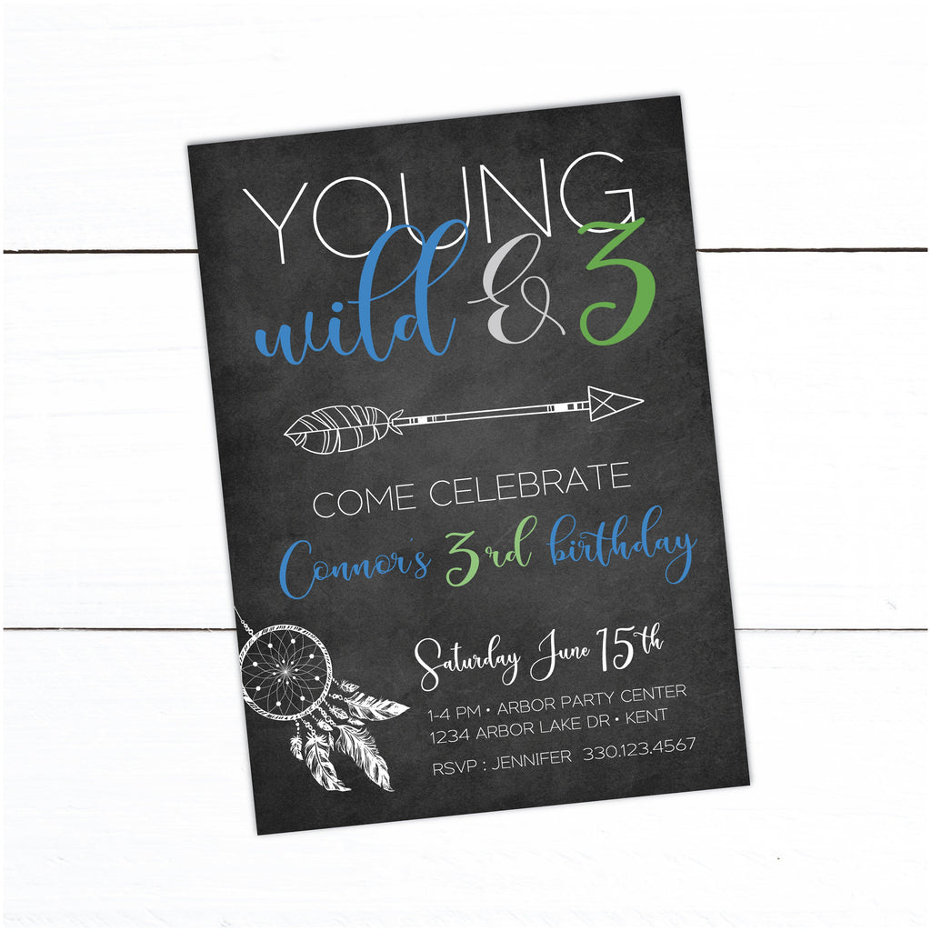 Young Wild And Three Girl Boho Dreamcatcher Birthday Party