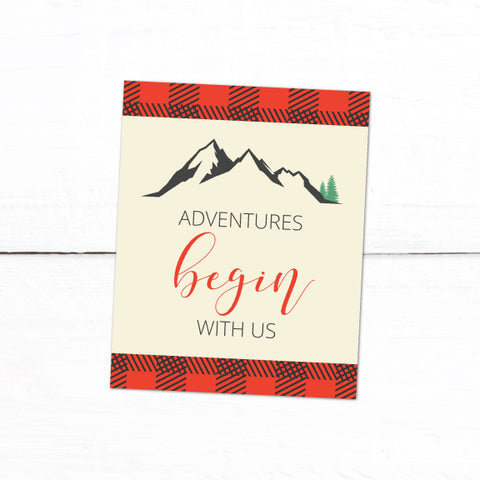 Lumberjack Plaid Adventure Printable Art 8x10