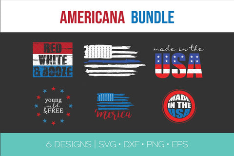 Americana Fourth of July Bundle SVG DXF EPS Silhouette Cut File