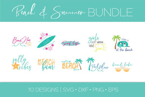 Beach and Summer Bundle SVG Cut File