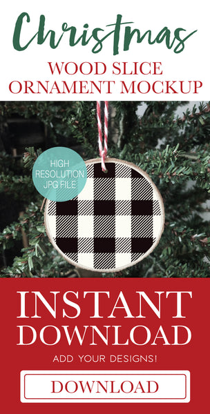 White Christmas Bauble Ornament Mockup